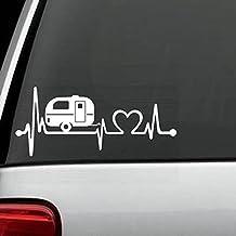 F1026 Camper Travel Trailer Heartbeat Lifeline Decal Sticker