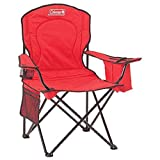Automotive : Coleman Portable Camping Quad Chair with 4-Can Cooler (Red/Set of 2)