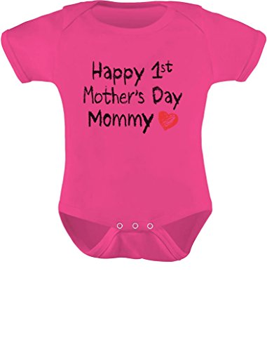 Happy 1st Mothers Day Mommy Baby Bodysuit