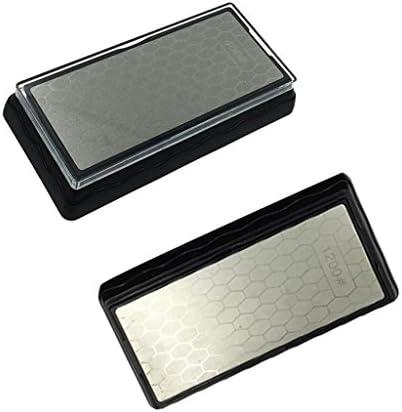 FLAMEER 2ピース/個キッチンガーデンホーニング用品400/1200#の両面ダイヤモンドCaotedシャープニングブロック