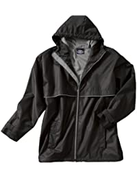 db7093b8 The New Englander Waterproof Rain Jacket from Black/Grey Adult 4X-Large