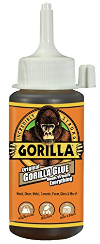 Gorilla Original Gorilla Glue, Waterproof Polyurethane Glue, 4 ounce Bottle, Brown