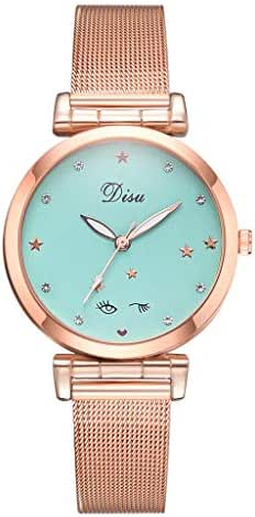 LUXISDE Watch Women Fashion Trend Does Not Show Off The Color Mesh with Pin Buckle Ladies Watch