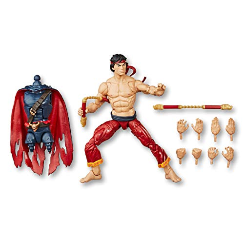 """Spider-Man Hasbro Marvel Legends Series 6"""" Collectible Action Figure Shang Chi Toy, with Build-A-Figurepiece & Accessories"""