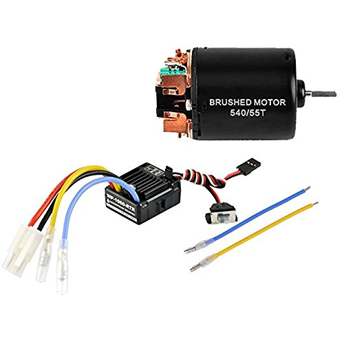 Power Battery Nimh Hi (FastWin 540 55T 4 Poles Brushed Motor and WP-1060-RTR 60A Waterproof Brushed ESC Electronic Speed Controller with 5V/2A BEC for Axial RC4WD CROSS HPI MIST GMADE D90 D110 TF2 SCX10 ii PG4 MC8 WARAITH Y)