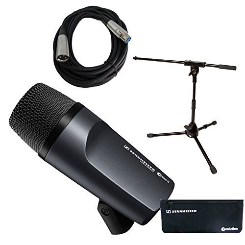 Sennheiser e 602-II Bass / Kick Drum Mic with Short Mic Stand & Cable Bundle