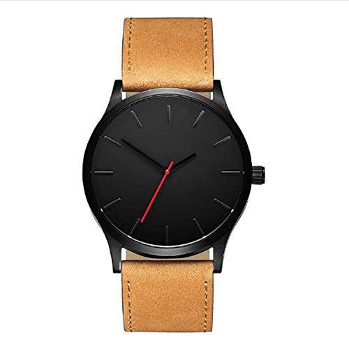 n Series Stainless Steel and Leather Commuter Accent Dress Quartz Watch (B) ()