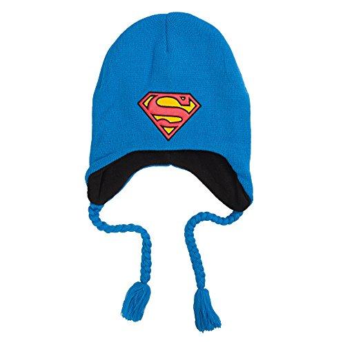 Superman Briaded Peruvian Beanie Hat]()