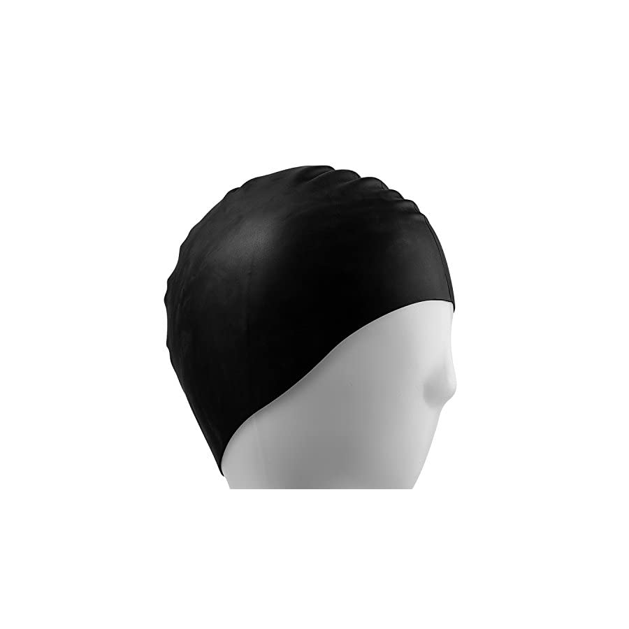 i Summer Lightweight, Non Toxic, Flexible And Resilient Silicone Swimming Cap Suitable for All Ages and All Hair Lengths, also Comes With Nose Clip And Ear Plugs