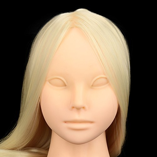 Price comparison product image Anself Cosmetology Training Dummy Head Face Makeup False Eyelash Extension Practice Mannequin with Clamp