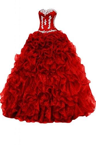 Rosso Sunvary Donna Sunvary Sunvary Donna Vestito Rosso Vestito 0wnTOO4q