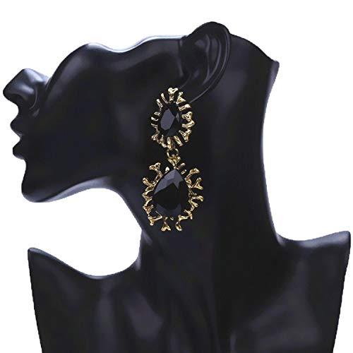 Punk Big Red Black Blue Water Drop Earrings Vintage Branch Geometric Dangle Earrings Prom Party Jewelry Bijoux