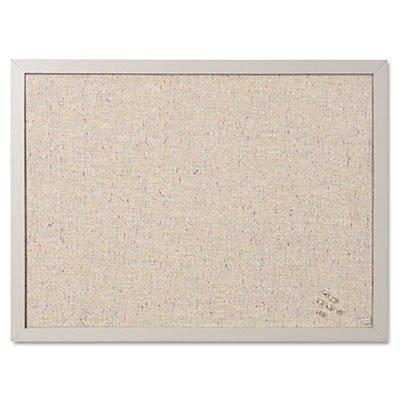 Designer Fabric Bulletin Board (Designer Fabric Bulletin Board, 24X18, Gray Fabric/Gray Frame)
