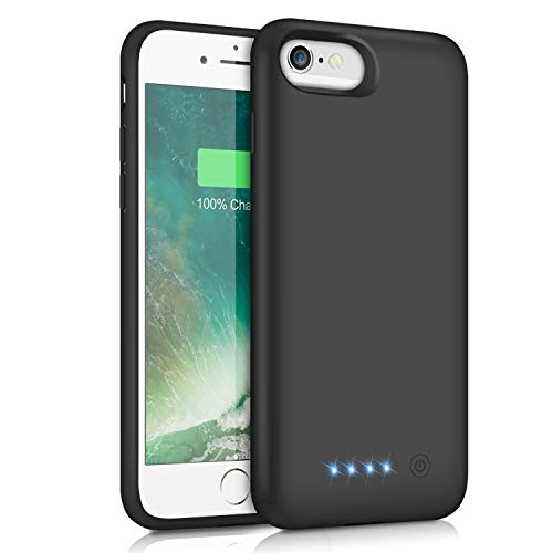 Cheap Pxwaxpy Battery Case for iPhone 6S 6 6000mAh Rechargeable Charging Case for iPhone 6 External Charger Cover iPhone 6S Battery Pack Apple Power Bank [4.7 inch]- Black iphone 6 charger case