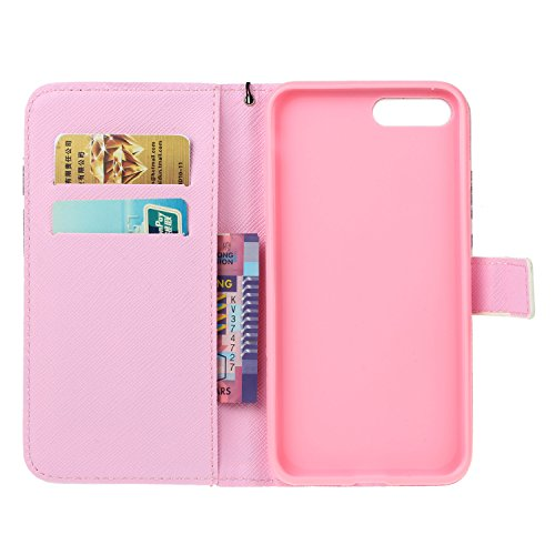 iPhone 7 Plus iPhone 8 Plus Hülle , COZY HUT Ultra Slim Schutzhülle für iPhone 7 Plus iPhone 8 Plus Multi-function Wallet Case Hülle 2 in 1 Detachable Kette Cover Case Leather hülle Tasche Schutzhülle Ballon-Frau
