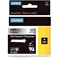 DYMO Rhino Permanent Adhesive Polyester Label Tape, 1-inch, 18-foot Cassette, Metallic (1805434) by DYMO