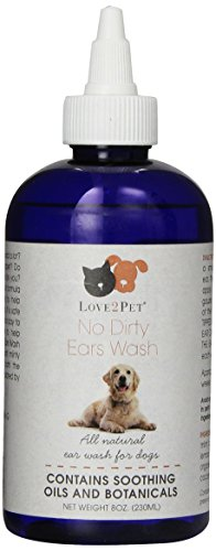 Love2Pet No Dirty Ears Wash for Pets, 8-Ounce by LOVE2PET®