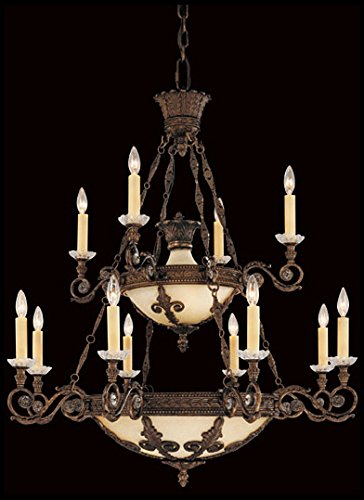 Savoy House 1-3412-12-56 Chandelier with No Shades, Brown Tortoise Shell (Locations Tortoise Shell Finish)