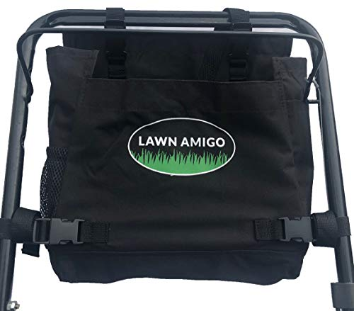 Lawn Amigo. Push Mower Garden Organizer. Bag Clips to Walk-Behind Mower Handle and Stores Tools Water Bottle Phone Tool Bags and iPhone (Black, Green, Red). Made in USA. Unique Gifts ()
