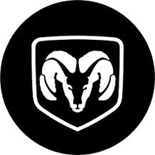 """Dodge Ram Black and White Replacement Decal Sticker 6 Piece Set (3\"""")"""