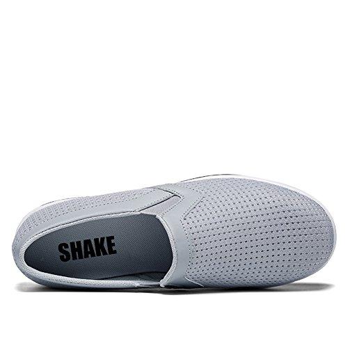 Shake Femmes Shapewear Mesh Slip-on Casual Cales De Marche Chaussures Respirant Travail Baskets Pour Les Femmes Gris