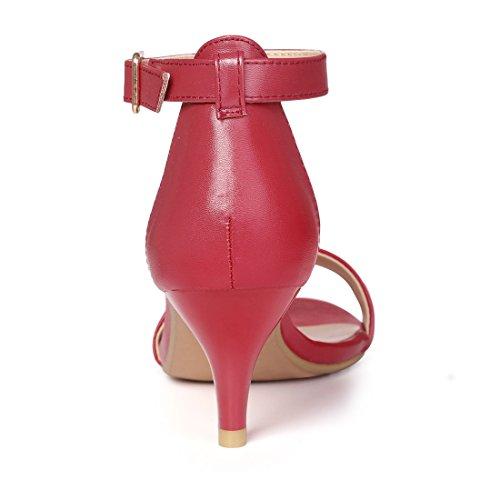 Allegra con tacco per e basso aperta caviglia cinturino Sandali alla rossa donna K con punta rqExpSBrwg