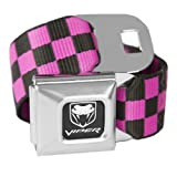 Checkered Pink Dodge Viper Seatbelt Buckle