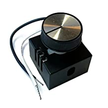 Midwest Hearth Fan Speed Control Kit | Fireplace and Stove Blowers | On/Off Variable Speed Controller with Rheostat Knob and Hardware