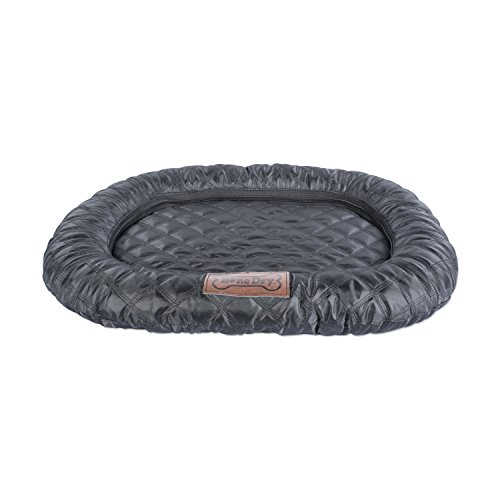 Bone Dry DII Large Oval Quilted Kennel & Crate Padded Pet Mat, 22x34 for Dogs or - Carrier Pet Oval