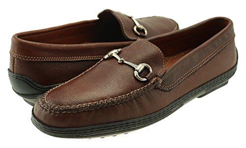 Greenwich Brown Spencer Bit Handsewn Gridiron Shoes David Tumbled nEU0HRF