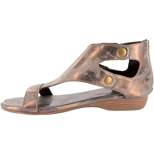 Corkys Women's Amelia Distressed Flat Sandals Brushed Bronze clearance new arrival free shipping best store to get latest collections online aNvl5v