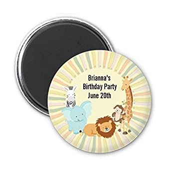 Amazoncom Jungle Safari Party Personalized Baby Shower Magnet