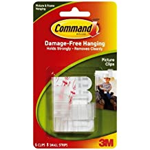 3M Command 17505 Photo Clips, 6 Clips, 8 Strips