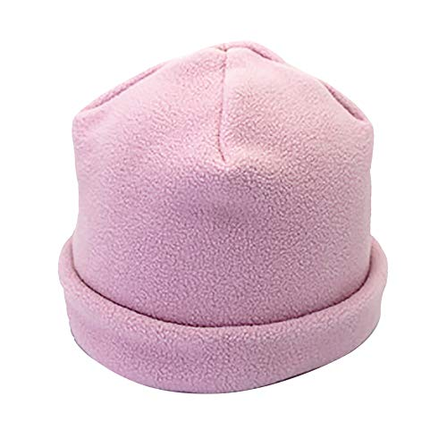 Seamount Autumn Winter Warm Earmuffs Hemming Hat-Thicking Outdoor Sports Fleece Soft Stretch Hat (Pink) (Baseball 180)