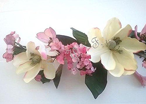 Wedding Flowers 2' Crinkle Magnolia Swag Artificial Silk Home Decor (Cream) by Wedding Flowers