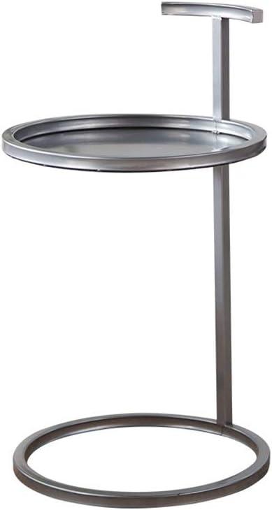 Best Verkopende GYH salontafels bijzettafel, ijzer klein appartement woonkamer ronde bank koffietafel, geschikt voor zakelijke kantoor gang (5 kleuren) (kleur: wit) Grijs 9deSj8j
