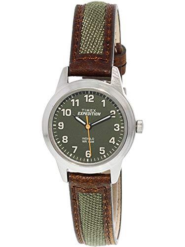 Timex Women's Expedition TW4B12000 Black Leather Analog Quartz Dress Watch
