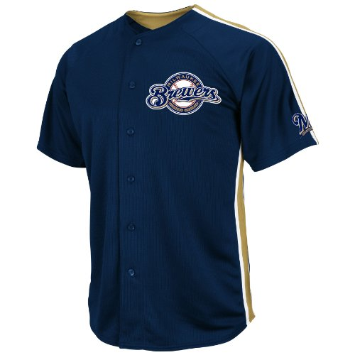 MLB Milwaukee Brewers Crosstown Rivalry Jersey, Navy/Harvest Gold/White, XX-Large (Rivalry Jersey)