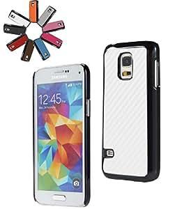 BRALEXX Teléfono inteligente Maletín Cubierta Bolso Funda Estuche protector adecuado para Apple HTC Sony Samsung - blanco, Samsung Galaxy S5 mini G800F
