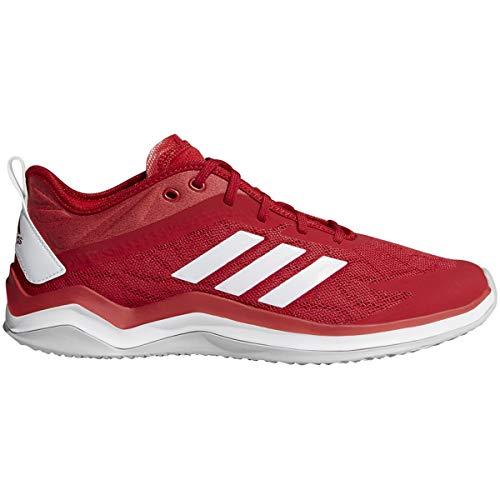 adidas Men's Speed Trainer 4 Baseball Shoe, Power red/Crystal White/Scarlet, 12 M US