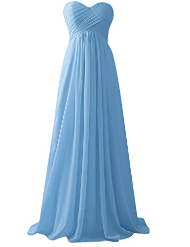 HUINI Sky Vestito Vestito Donna HUINI Blue 6ZZqw4px