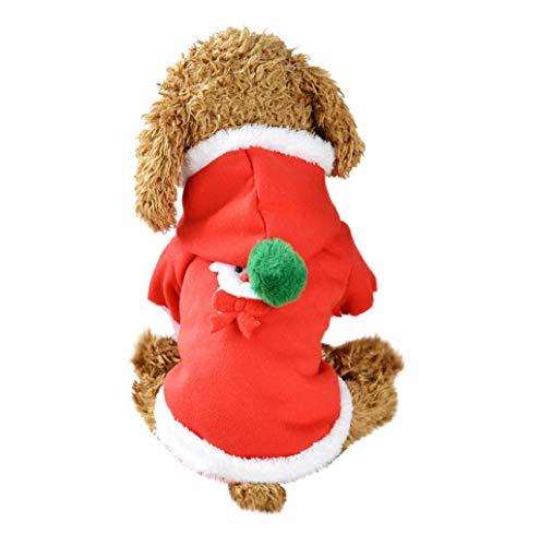 Pet Clothes,JHKUNO Pet Winter Color-Block Knitted Unisex Designer Hooded Dog Sweater Elk Pet Sweatshirts Pet Apparel