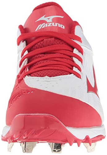 Mizuno Frauen 9-Spike Advanced Sweep 3 Softball Schuh Weiß Rot