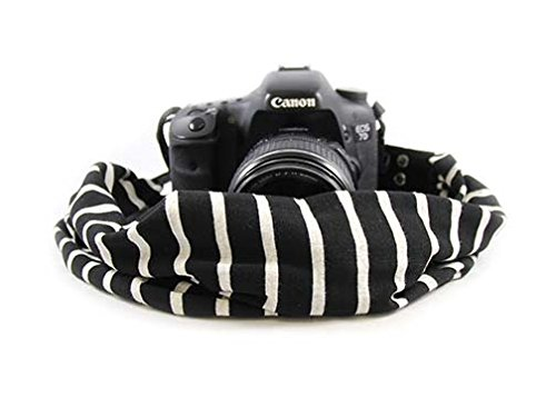Black & Ivory Scarf Camera Strap; NEW; Classic...