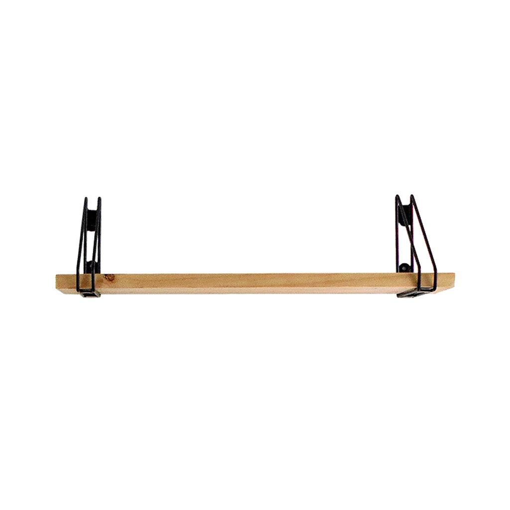 Full decoration CSQ Wooden Iron Racks, Creative Long Bar Iron Art Wooden Shelf Cafe Bedroom Hotel Living Room Shelf 60202CM, 80202CM, 100202CM, 120202CM, 140202CM