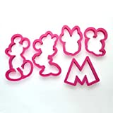 JYT 5 pcs Mickey and Minnie Mouse Cookie Cutter Mold Cupcake Birthday Party Favor Set