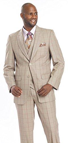 mens-suits-3-piece-taupe-purple-plaid-for-men-blazer-vest-suit-m2695-38-r-small-size