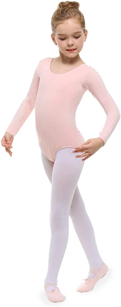 STELLE Ballet Dance Footed Tights for Girls Toddlers Little//Big Kids