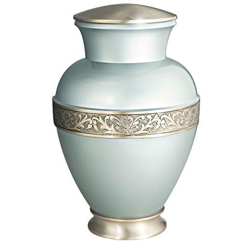 metal burial urn - 1
