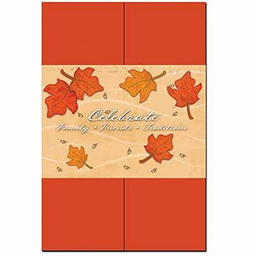 Wedding Invitation Fall Leaves (ISO Falling Leaves Invitation Kit - 100 Pack)